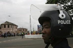 Heavy Police presence at Ga Mantse Palace